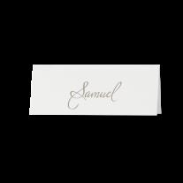 Tischkarte (6 Stk.) passend zur champagnerfarbene Hochzeitseinladung mit Spitze und Band