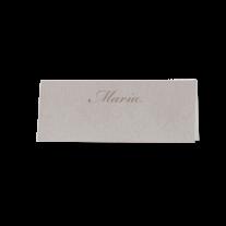 Tischkarte (6 Stk.) passend zur klassischen Hochzeitseinladung in stilvollem Altweiß