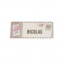 Tischkärtchen passend zur Einschubkarte mit Umschlag und Kärtchen an natürlichem Strick und Polaroidfoto (727713)