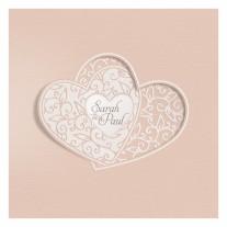Hochzeitskarte Verschlungene Herzen (728024)