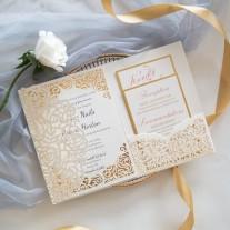 Lasercut Hochzeitskarte (WPFC2122)