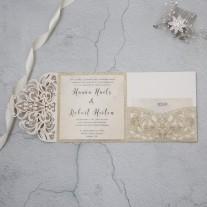 Lasercut Hochzeitskarte (WPFC2126G)