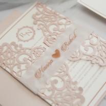 Lasercut Hochzeitskarte (WPL0041)