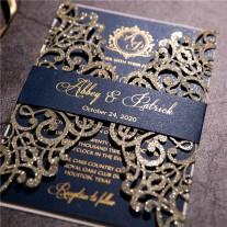 Lasercut Hochzeitskarte (WPL0041G)