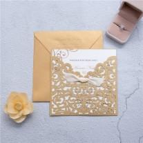 Lasercut Hochzeitskarte (WPL0070)