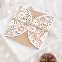 Lasercut Hochzeitskarte (WPL0080)