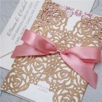 Lasercut Hochzeitskarte (WPL0140G)
