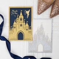 Lasercut Hochzeitskarte Schloss (WPL0168G)