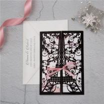Lasercut Hochzeitskarte Eifelturm (WPL0174G)
