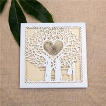 Lasercut Hochzeitskarte (WZL0014)
